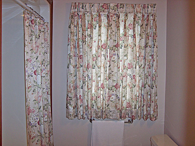 Window Treatment shower curtains with matching window treatments : Wriglesworth Interiors Window Treatments